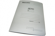 Скоросшиватель карт. BRAUBERG Standard, гарант. пл. 300 г/кв. м., белый, до 200л. ~~