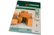 Этикетка самоклеящаяся LOMOND на листе формата А4, 6 этик., размер 105х99мм, белая, 50л. (2100035)
