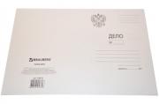 Папка Дело картонная (без скоросшивателя) BRAUBERG, ГЕРБ РОССИИ, гарант. пл. 300 г/м2, до 200л.