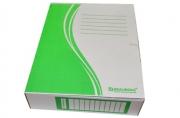 Накопитель документов, Папка с завязками BRAUBERG,  75 мм, 2 х/б завязки, зеленый, до 700л., 124851