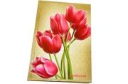 Блокнот 7БЦ А5 96л., обл. ламин., кл., BRAUBERG, Цветы, 135*206мм, 126112