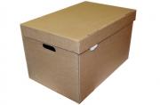 """Короб архивный """"Делопроизводство"""" (в29, 5*ш48*г32, 5, см), откидная крышка, картон, бурый"""