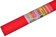 Бумага крепированная ПЛОТНАЯ, растяжение до 45%, 32г/м, BRAUBERG, рулон, красная, 50х250см, 126534