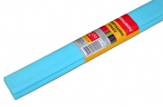 Бумага крепированная ПЛОТНАЯ, растяжение до 45%, 32г/м, BRAUBERG, рулон, голуб, 50х250см, 126534