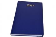 Ежедневник BRAUBERG 2017, А5 145*215мм, 160л., обл. бумвинил, синий, 127531