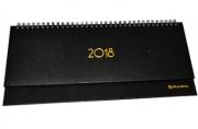 Планинг настольный датированный 2018 BRAUBERG Select, кожа классик, коричневый, 305*140мм, 128252