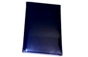 2019 Ежедневник дат, А5, BRAUBERG Imperial, гладкая кожа, крем. блок, темно-синий, 138*213мм