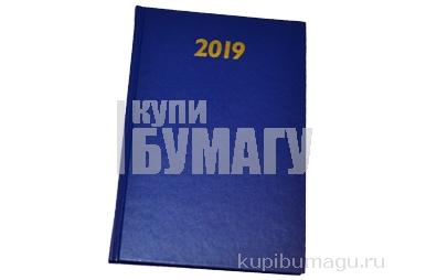 2019 Ежедневник дат А5, тв. переплет, обл. бумвинил, синий, 145*215мм, BRAUBERG, 129262