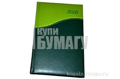 2020 Ежедневник датированный 2020 А5, BRAUBERG Bond, комбинированный, зеленый/салатовый, 138*213мм, 1