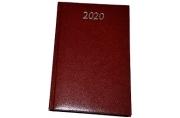 2020 Ежедневник датированный 2020 А5, BRAUBERG Profile, фактурная кожа, коричневый, 138*213мм, 12970