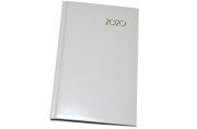 2020 Ежедневник датированный 2020 А5, BRAUBERG Select, кожа классик, белый, 138*213мм, 129716