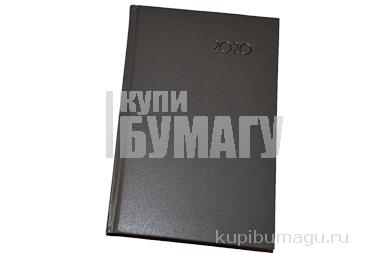 2020 Ежедневник датированный 2020 А5, BRAUBERG Select, кожа классик, серый, 138*213мм, 129717
