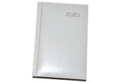 2020 Ежедневник датированный 2020 А6, BRAUBERG Select, кожзам, белый, 129758