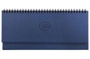 2020 Планинг настольный датированный BRAUBERG Favorite, фактурная кожа, темно-синий, 305*140мм