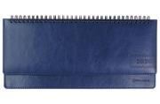 2020 Планинг настольный датированный BRAUBERG Imperial, гладкая кожа, крем. блок, синий, 305*140мм
