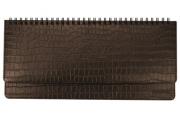 2020 Планинг настольный датированный BRAUBERG Comodo, крок. кожа, кремовый блок, коричневый, 305*140