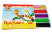 """Пластилин ЛУЧ мягкий """"Кроха"""", 10 цв., 165 г, со стеком, 12С875-08"""