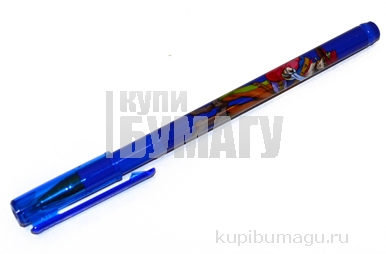 Ручка шариковая BRAUBERG Корсары, корпус с печатью, узел 0, 7мм, линия 0, 35мм, синяя, 141538
