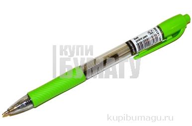 Ручка шариковая автомат. BRAUBERG Instinct, детали ассорти, узел 0, 7мм, линия 0, 35мм, синяя, 141548