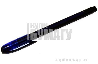 Ручка шариковая масляная UNI (Япония) JETSTREAM, корпус синий, 0, 35мм, резин. упор, SX-101-07, синяя