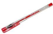 Ручка гелевая STAFF, КРАСНАЯ, корпус прозрачный, хром. детали, узел 0,5 мм, линия 0, 35 мм, GP109