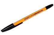 """Ручка шариковая STAFF """"BP-1000"""", ЧЕРНАЯ, корпус оранжевый, узел 0, 7 мм, линия письма 0, 35 мм, 142827"""