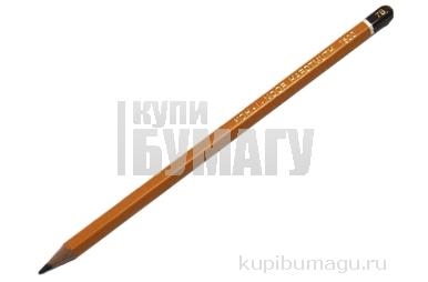 Карандаш чернографитный, 7B,  (KOH-I-NOOR)