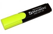 """Текстмаркер BRAUBERG """"Contract"""", классический, скошенный наконечник 1-5 мм, лимонный, 150389"""