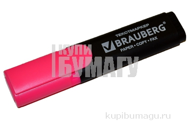 """Текстмаркер BRAUBERG """"Contract"""", классический, скошенный наконечник 1-5 мм, розовый, 150392"""