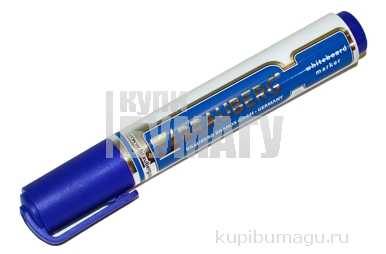 "Маркер для доски BRAUBERG ""Neo"", с клипом, круглый наконечник 5 мм, синий, 150488"