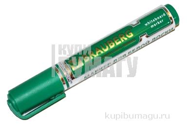 """Маркер для доски BRAUBERG """"Neo"""", с клипом, круглый наконечник 5 мм, зеленый,"""