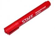 Маркер перманентный (нестираемый) STAFF эконом, круглый наконечник 2, 5мм, красный,