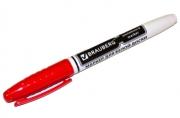 Маркер для доски BRAUBERG с клипом, эргономичный корпус, круглый наконечник 4 мм, красный, 150848