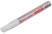 Маркер-краска лаковый 2-4мм, БЕЛЫЙ, нитро-основа, алюминиевый корпус, BRAUBERG, 150878