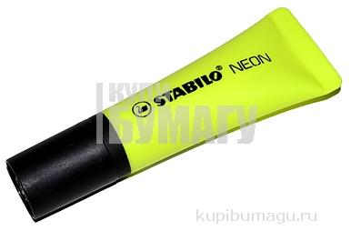 """Текстовыделитель STABILO """"Neon"""", ЖЕЛТЫЙ, линия 2-5 мм, 72/24"""