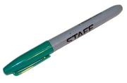 Маркер перманентный (нестираемый) STAFF, эргономичный корпус, круглый након. 2мм, зеленый, 151236