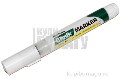 """Маркер меловой MUNHWA """"Chalk Marker"""", сухостираемый, 3мм, на спиртовой основе, БЕЛЫЙ, CM-05"""