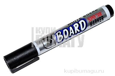 """Маркер для доски CROWN """"Multi Board"""", ЧЕРНЫЙ, с клипом, круглый наконечник 3мм, CBM-1000"""