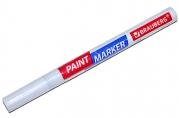 Маркер-краска лаковый EXTRA (paint marker) 2 мм, БЕЛЫЙ, УЛУЧШЕННАЯ НИТРО-ОСНОВА, BRAUBERG, 151967