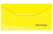 Папка-конверт на кнопке Berlingo, C6, 180мкм, желтая