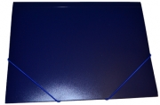 Папка на резинкеА4, 500мкм, синяя OfficeSpace
