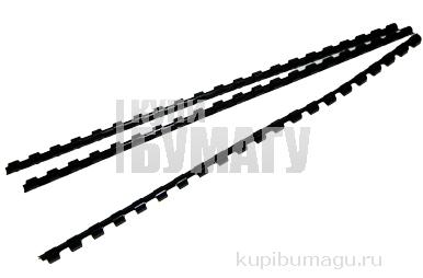 Пружины для переплета пластиковые GBC черные 6 мм,