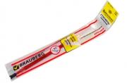 Стержень гелевый BRAUBERG 130мм, игольчатый пишущий узел 0,5 мм, красный