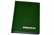 Ежедневник недат., A6, 160л., бумвинил, зеленый