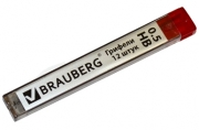 """Грифели запасные BRAUBERG, КОМПЛЕКТ 12 шт, """"Hi-Polymer"""", HB, 0,5 мм, 180445"""