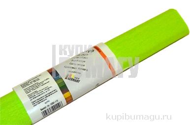 Бумага цветная креповая 50*250см WEROLA плотн 32г зел. яблоко