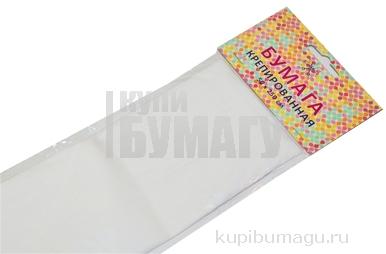 Бумага цветная креповая 50*250см 32/м2 белый е/п ЭКСМО КБ003