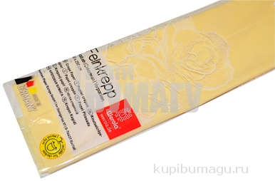 Бумага цветная креповая 50*250см плотн 32г шампань е/п WEROLA 12800-101