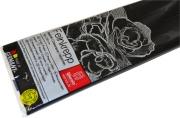 Бумага цветная креповая 50*250см плотн 32г черный е/п WEROLA 12800-199