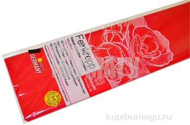 Бумага цветная креповая 50*250см плотн 32г красный е/п WEROLA 12800-134